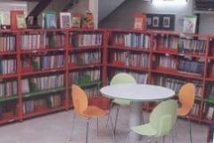 ספרית נוער עשוייה מדפי מתכת