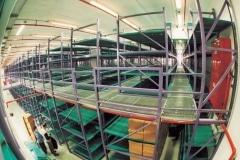 מפעל עם מדפים למשקל כבד