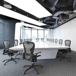 חדר ישיבות בעיצוב נקי וחדשני